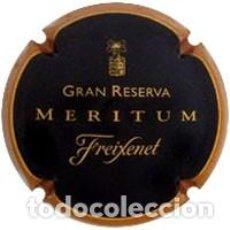 Coleccionismo de cava: PLACA CHAPA CAVA - FREIXENET - GRAN RESERVA - MERITUM (TIPO 2). Lote 243846005