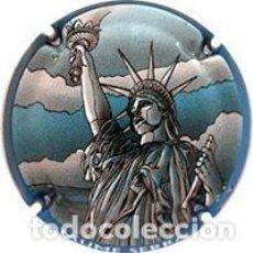 Coleccionismo de cava: PLACA CHAPA CAVA - PLACA CHAPA CAVA - JAUME SERRA - SERIE 5 - ESTATUA DE LA LIBERTAD. Lote 244196325