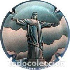 Coleccionismo de cava: PLACA CHAPA CAVA - JAUME SERRA - SERIE 5 - CRISTO DE CORCOBADO. Lote 244196440
