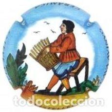 Coleccionismo de cava: PLACA CHAPA CAVA - AVINYO - ELS OFICIS - CISTELLER. Lote 246065810