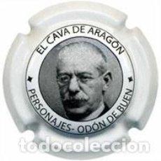 Coleccionismo de cava: PLACA CHAPA CAVA - CAVA DE ARAGON - PERSONAJES ODON DEL BUEN. Lote 246075260