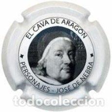 Coleccionismo de cava: PLACA CHAPA CAVA - CAVA DE ARAGON - PERSONAJES JOSE DE NEBRA. Lote 246075405