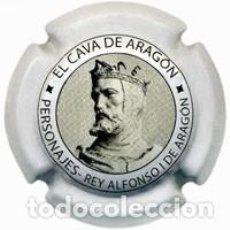 Coleccionismo de cava: PLACA CHAPA CAVA - CAVA DE ARAGON - PERSONAJES REY ALFONSO I DE ARAGON. Lote 246075660