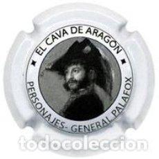 Coleccionismo de cava: PLACA CHAPA CAVA - CAVA DE ARAGON - PERSONAJES GENERAL PALAFOIX. Lote 246075750