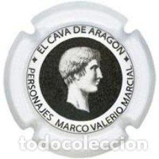 Coleccionismo de cava: PLACA CHAPA CAVA - CAVA DE ARAGON - PERSONAJES MARCO VALERIO MARCIAL. Lote 246075930