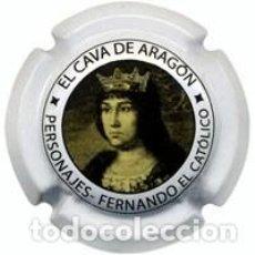 Coleccionismo de cava: PLACA CHAPA CAVA - CAVA DE ARAGON - PERSONAJES REY FERNANDO EL CATOLICO. Lote 246076015
