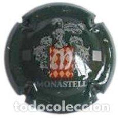 Coleccionismo de cava: PLACA CHAPA CAVA - MONASTELL - LLETRES EN GRIS ARGENTAT. Lote 246080130