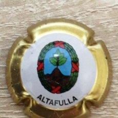 Coleccionismo de cava: CHAPA DE CAVA ESCUDO ALTAFULLA TARRAGONA. Lote 246821820