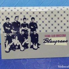 Coleccionismo de cava: BONITA LIBRETA CON POSITS TAMAÑO CAJA DE CERILLAS FC BARCELONA. Lote 246823130