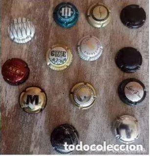 COLECCIÓN DE 13 PLACA . CHAPA CHAPAS DE CAVA PARA COLECCIONISTAS. (Coleccionismo - Botellas y Bebidas - Cava)