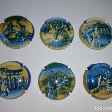Coleccionismo de cava: 6 PLACAS DE CAVA DE JAUME SERRA. Lote 253701495