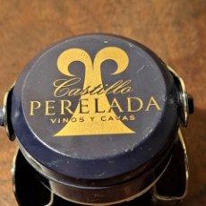 Coleccionismo de cava: TAPÓN HERMÉTICO CAVA CASTILLO PERELADA. Lote 254091560