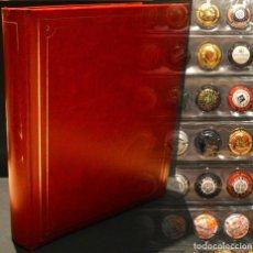 Coleccionismo de cava: LOTE 144 PLACAS DE CAVA Y CHAPAS CORONAS CERVEZAS Y REFRESCOS ALBUM Y 4 HOJAS INCLUIDOS. Lote 254980700