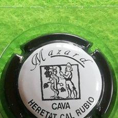 Coleccionismo de cava: CHAPA CAVA MAZARD NEGRA. Lote 259757120