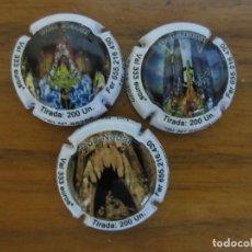 Coleccionismo de cava: LOTE DE 3 PLACAS CHAPAS DE CAVA GENERICAS -LOTERIA DE NAVIDAD 2020-CATALOGADAS XAPES NET. Lote 259795670
