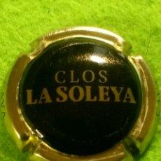 Coleccionismo de cava: CHAPA CAVA CLOS LA SOLEYA. NEGRO Y DORADO. Lote 262313165