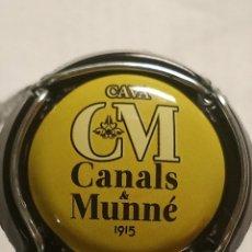 Coleccionismo de cava: CHAPA CAVA CANALS Y MUNNE AMARILLO. Lote 262740680