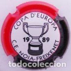 Coleccionismo de cava: PLACA DE CAVA - PIRULA - COMMEMORATIVAS - C.E. NOIA FREIXENET - COPA D'EUROPA 1989 - X 11881. Lote 278557288