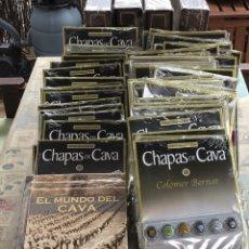 Coleccionismo de cava: COLECCION COMPLETA CHAPAS DE CAVA RBA EDICIONES - 56 FASCICULOS -3 TAPAS Y 4 ALBUMS PARA LAS CHAPAS. Lote 280993423