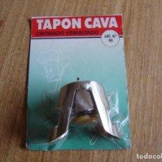 Coleccionismo de cava: TAPÓN PARA CAVA LAYFA. CROMADO ESMALTADO. ESPAÑA AÑOS 70. NUEV0. PRECINTADO.. Lote 288667413