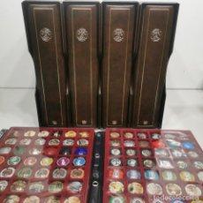Coleccionismo de cava: LOTE DE ÁLBUMES CON COLECCIÓN DE 804 CHAPAS DE CAVA - RBA - MUCHA, CASAS, ETC - HAY DE MUY RARAS. Lote 291977823