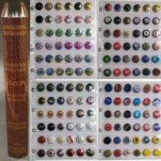 Coleccionismo de cava: LOTE 144 PLACAS DE CAVA Y CHAPAS CORONAS CERVEZAS Y REFRESCOS ALBUM Y 4 HOJAS INCLUIDOS LOTEJK. Lote 292623043