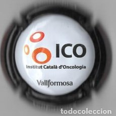 Coleccionismo de cava: CHAPA / PLACA - CAVA - VALLFORMOSA - ICO - INSTITUT CATALA D´ONCOLOGIA - CONTRA EL CANCER. Lote 294090438