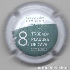 Coleccionismo de cava: CHAPA / PLACA - CAVA - 8ª TROBADA PLAQUES DE CAVA 2013 - COOPERATIVA AGRICOLA DE CAMBRILS. Lote 294096148