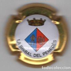 Coleccionismo de cava: CHAPA / PLACA - CAVA - ESCUT - LA BISBAL DEL PENEDES - BORDE DORADO. Lote 294108663