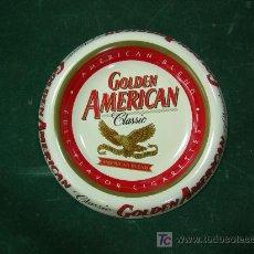 Ceniceros: CENICERO METALICO DE GOLDEN AMERICAN . Lote 27598754