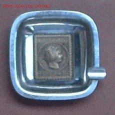 Ceniceros: PRECIOSO CENICERO EN METAL CON SELLO EN RELIEVE DE CORREOS-1853-CERTº 6 RS. Lote 2394492