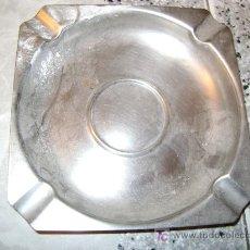 Ceniceros: 14 X 14 CM, CENICERO METAL. Lote 12348923