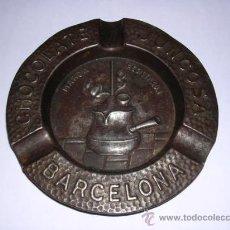 Ceniceros: CENICERO DE METAL - CHOCOLATE JUNCOSA, BARCELONA, EN RELIEVE . Lote 15243120