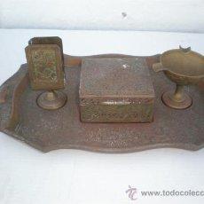 Ceniceros: BANDEJA DE METAL INDIO, PARA EL TABACO,CERRILLAS,CENICERO. Lote 22754403