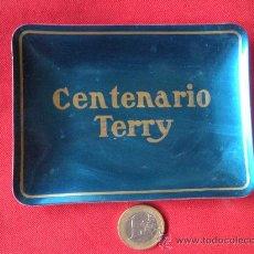 Ceniceros: ANTIGUO CENICERO BANDEJA PUBLICIDAD CENTENARIO TERRY, BRANDY. Lote 30368558