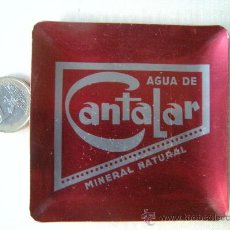 Ceniceros: ANTIGUO CENICERO BANDEJA PUBLICIDAD AGUA DE CANTALAR. Lote 30368577