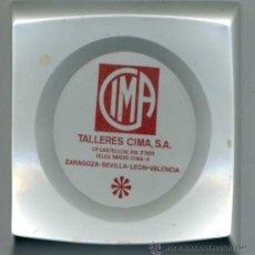 Ceniceros: ANTIGUO CENICERO DE TALLERES CIMA, AÑOS 60, DE 12,5X12,5 CM.. Lote 31028507