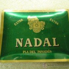 Ceniceros: CENICERO DE ALUMINIO AÑOS 60 CAVA NADAL EXTRA PLA DEL PANADES. Lote 32474319