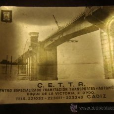 Ceniceros: ANTIGUO CENICERO ALUMINIO IMAGEN PUENTE CARRANZA CADIZ, CON PUBLICIDAD C.E.T.T.A . Lote 33724578