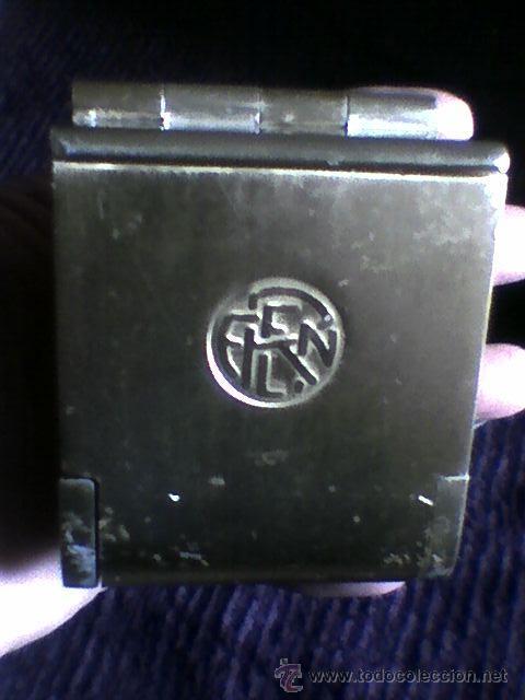 CENICERO TREN FERROCARRIL METAL RETRO VINTAGE (Coleccionismo - Objetos para Fumar - Ceniceros)