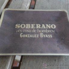 Ceniceros: CENICERO EN ALUMINIO SOBERANO ES COSA DE HOMBRES GONZALEZ BYASS. Lote 37341189