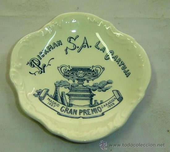 Ceniceros: CENICERO CERAMICA PUBLICIDAD PICKMAN S.A./LA CARTUJA DE SEVILLA diametro 11,5 cms. - Foto 2 - 70138166