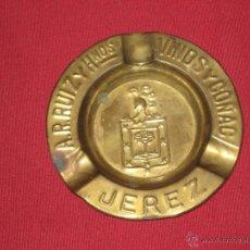 Ceniceros: RARISIMO CENICERO DE A. R. RUIZ Y HERMANOS - VINOS Y COÑAC - JEREZ DE LA FRONTERA. Lote 41609478