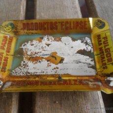 Ceniceros: CENICERO EN CHAPA SERIGRAFIADA PRODUCTOS ECLIPSE. Lote 42834480