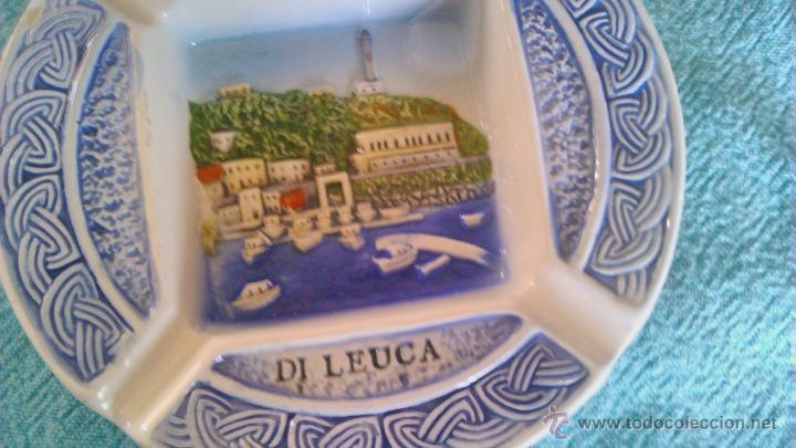 Ceniceros: Precioso cenicero de cerámica S.MARIA DI LEUCA Con imagen en relieve. - Foto 3 - 43951030
