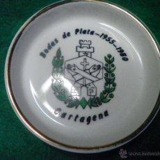 Ceniceros: CENICERO BODAS DE PLATA 1955 - 1980 - CERAMICAS CISTERCIENSES LA PALMA DE CARTAGENA. Lote 44393335