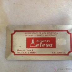 Ceniceros: CENICERO ALUMINIO PUBLICIDAD QUÍMICAS ELESA, VALENCIA. 14 X 7 CM.. Lote 44683996
