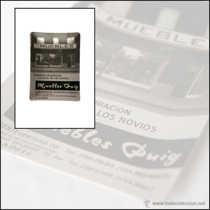 CENICERO PUBLICITARIO - ALUMINIO SERIGRAFIADO - MUEBLES PUIG - SABADELL (Coleccionismo - Objetos para Fumar - Ceniceros)