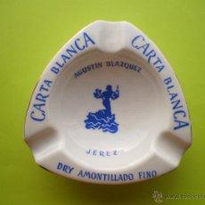 Ceniceros: CENICERO- CARTA BLANCA- AGUSTIN BLAZQUEZ.. Lote 45818798