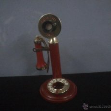Ceniceros: ORIGINAL ENCENDEDOR DE MESA Y CENICERO REPRODUCCION TELEFONO ANTIGUO PHONE LITE 1929. Lote 46577699